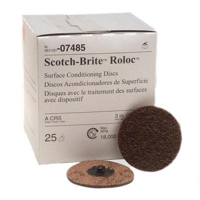3M Scotch-Brite Surface Roloc Disc - 3, Coarse, 50Pk