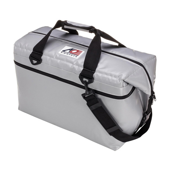 Ao Coolers 36 Can Soft-Sided Fishing Cooler, Silver
