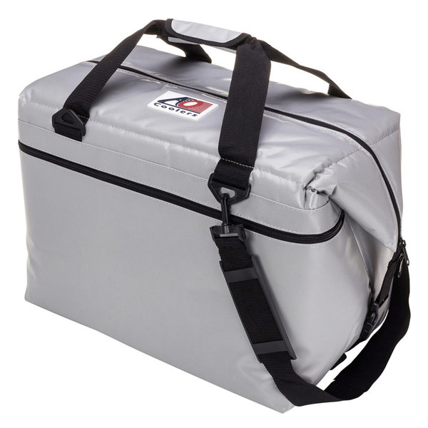 Ao Coolers 48 Can Soft-Sided Fishing Cooler, Silver
