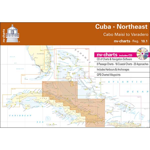 Nv Charts Reg. 10.1, Cuba Northeast, Cabo Maisi to Varadero Chartbook with Digital CD and App