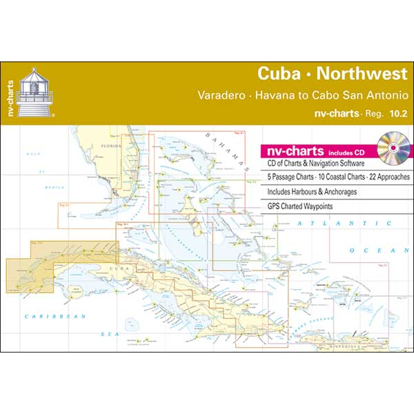Nv Charts Reg.10.2, Cuba Northwest, Varadero, Havana to Cabo San Antonio Chartbook with Digital CD and App