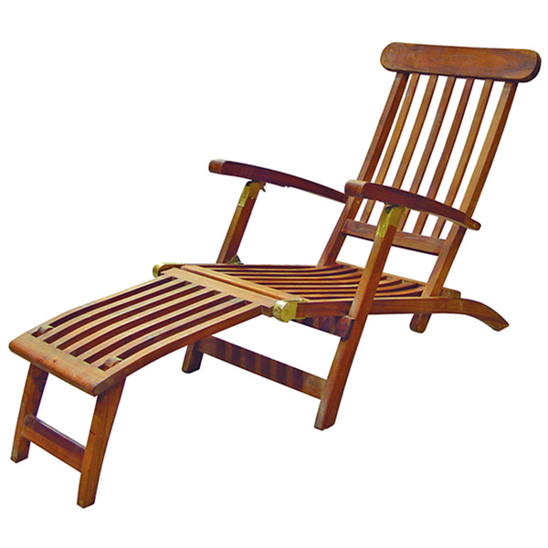 Seateak Britannia Folding Steamer Lounge, Teak