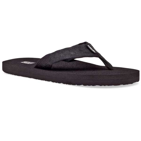 Men's Mush II Thong Sandals, Black, 8