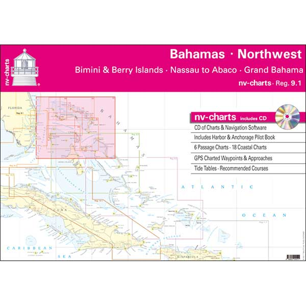 Nv Charts Bahamas North West, Bimini & Berry Islands, Nassau to Abaco, Grand Bahama Chart Book with CD ROM