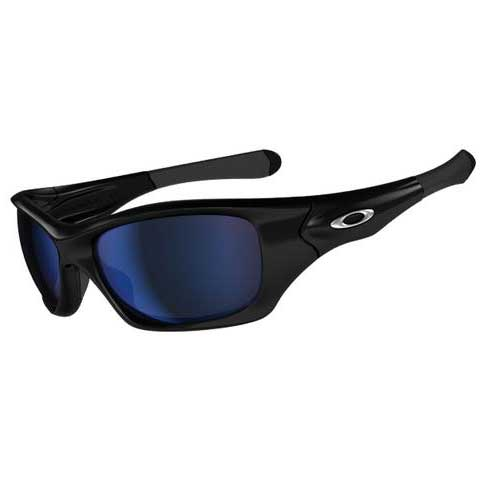 Pit Bull™ Polarized Sunglasses, Polished Black Frames with Deep Blue Lenses