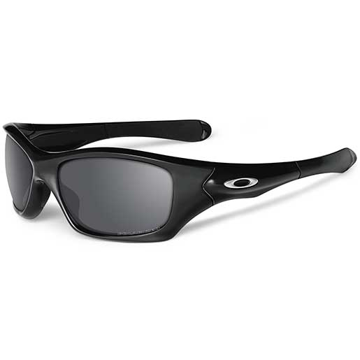 Oakley Pit Bull Polarized Sunglasses, Polished Black Frames with Black Iridium Lenses