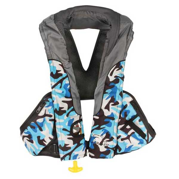 Blacktip Fishing Auto-inflatable Life Vest, Camouflage Blue