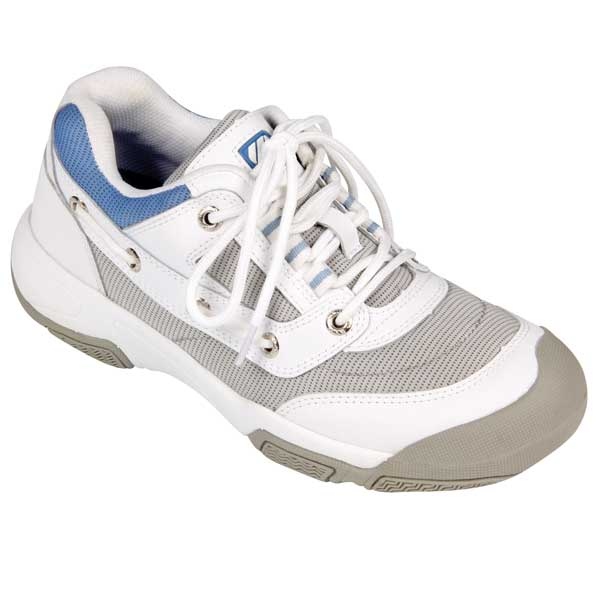 Women's Athletic Boat Shoes, White/Gray, 6