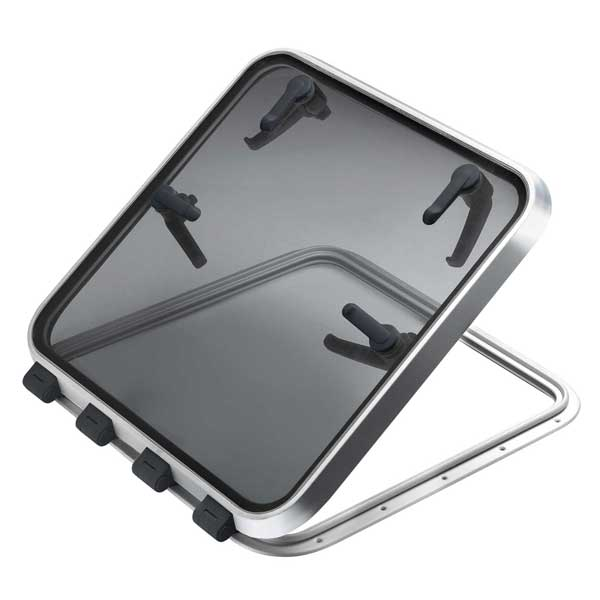 Vetus Denouden Satin Anodized Aluminum Hatch, 24-11/16 x 24-11/16