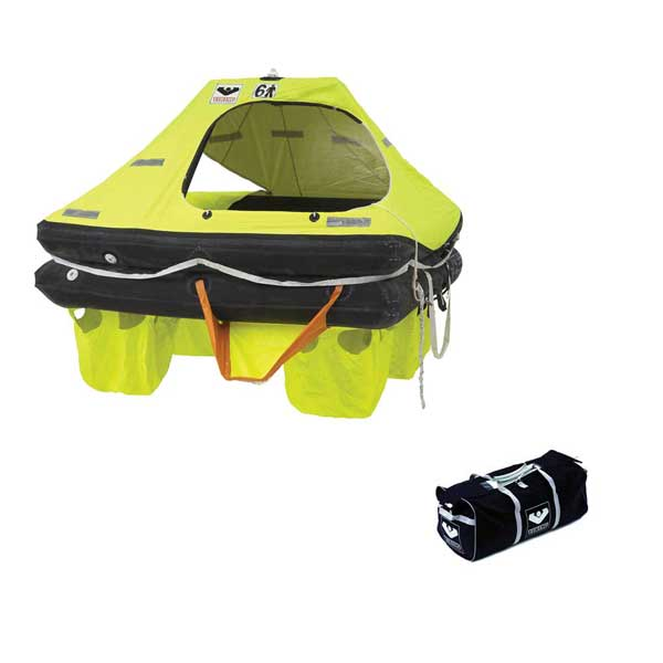 6 Person Coastal Life Raft, RescU Model, with Valise