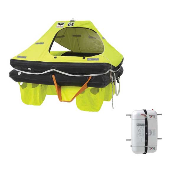 6 Person Coastal Life Raft, RescU Model, with Container
