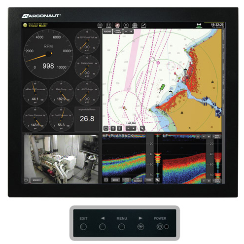 Argonaut G7 Series 19 LED Marine Monitor with Remote Wired OSD Control