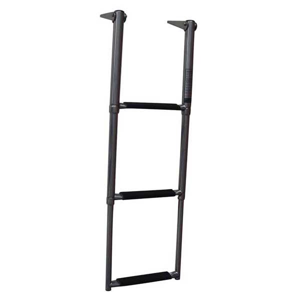 Telescoping Swim Ladder with Safety Stick Over Platform 3-Step Ladder