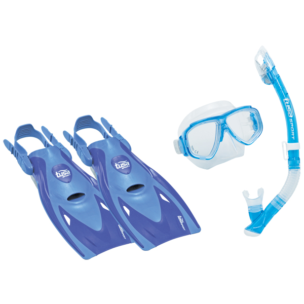 TUSA Splendive Dry Travel Dive Sets, Blue, M