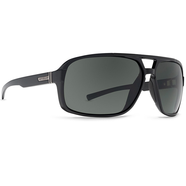 Vonzipper Decco Sunglasses, Black/gray Gloss Frames with Gray Lenses