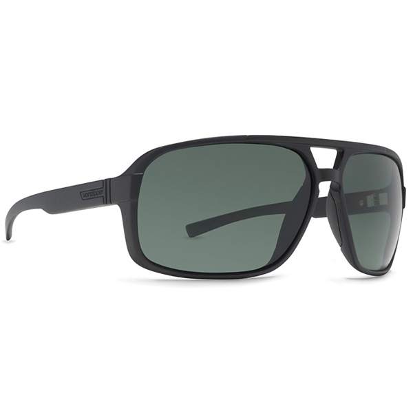 Vonzipper Decco Sunglasses, Black/gray Satin Frames with Gray Lenses