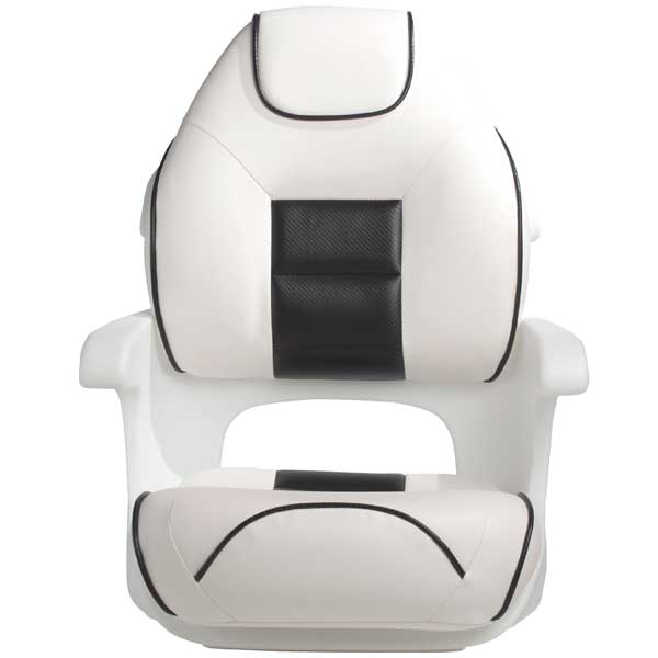Tempress Ultimate Deluxe Elite Captains Helm Seat, White/Black