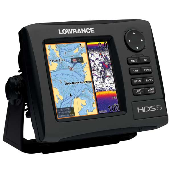 HDS-5 Gen2 Fishfinder / GPS Chartplotter, Lake Insight with 83 / 200 kHz Transducer