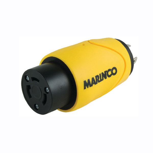 Marinco EEL-Style ShorePower Straight Adapter, 20A M-30A F, 1Piece