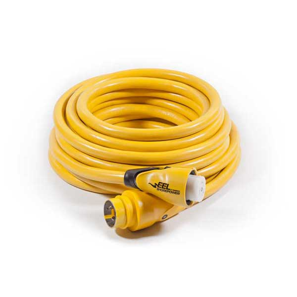 Marinco EEL ShorePower Cords, 50A,125V/250V, 50', Yellow