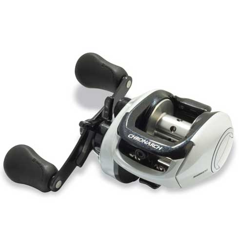click for Full Info on this Shimano Chronarch 200e Low Profile Bait casting Reel  Right