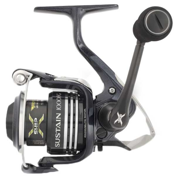 click for Full Info on this Shimano Sustain 6000fg Spinning Reel  8+1 Bb  28lb Drag  4.8:1 Gr  35'' Line Speed  19.6oz.  170/16lb Yds/tst