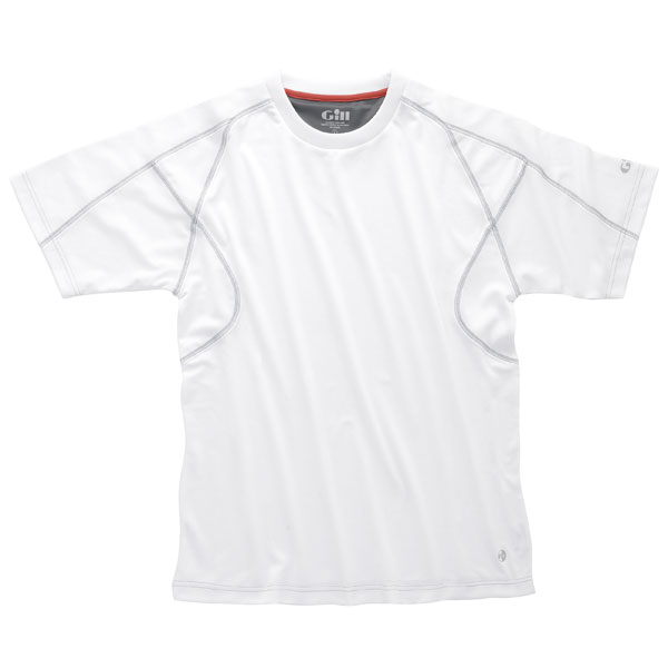 Men's UV Tec Crew-Neck Tee, White, S