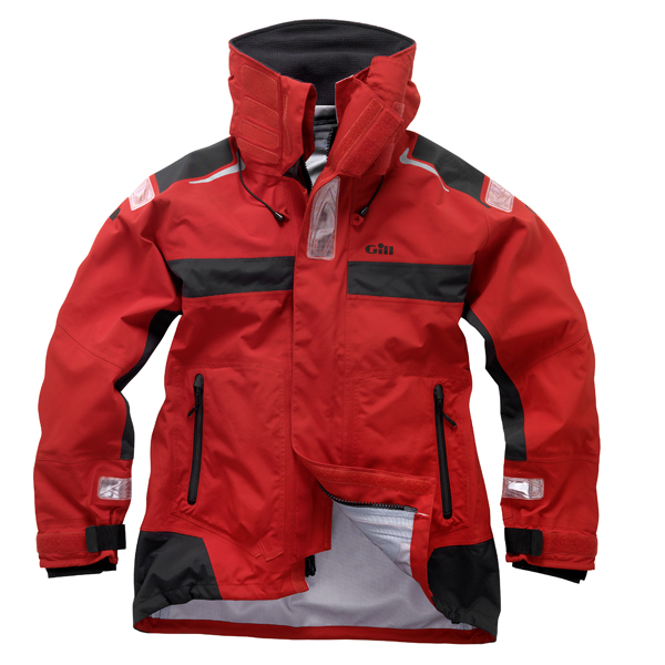 Gill Men's OC1 Racer Jacket, Red/gray