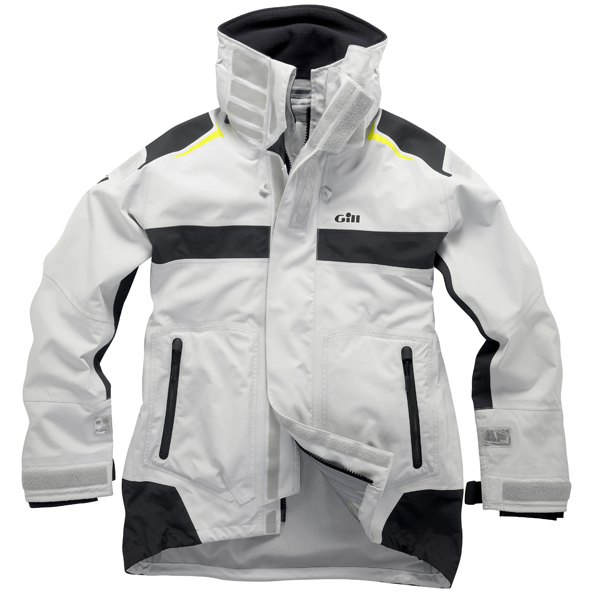 Gill Men's OC1 Racer Jacket, Sliver/Graphite, XL Silver/gray