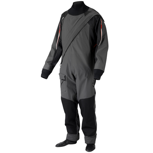 Men's Breathable Pro Drysuit, Ash, XS