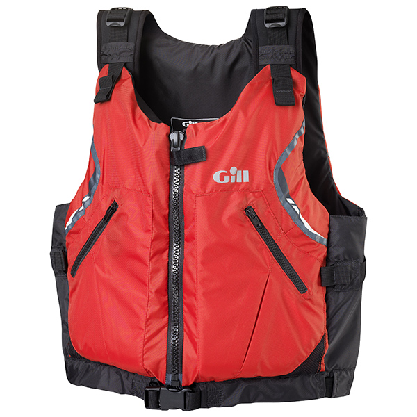 USCG Approved Front Zip PFD, Red, XL