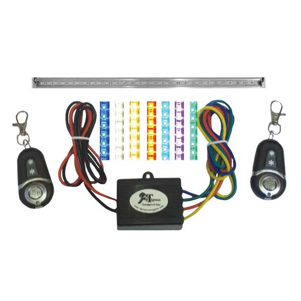 Tigress Multicolor LED 20 Light Strip Kit, Complete Light Strip Kit with Controller