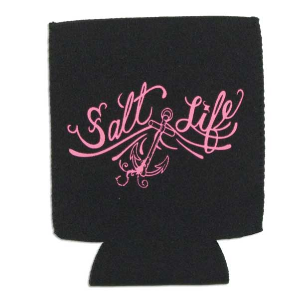 Salt Life Anchor Can Koozie, Black