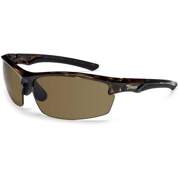 Typhoon Mariner Sunglasses, Shiny Demi Frame with Sunset Brown Lenses