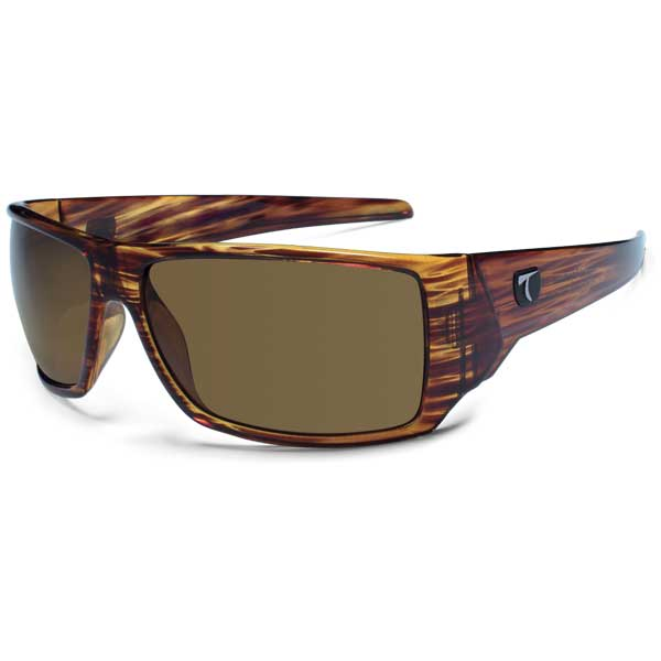 Typhoon Aloha Sunglasses, Shiny Demi Frame with Sunset Brown Lenses