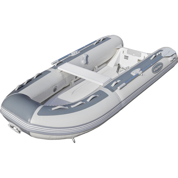 RIB-310 Single Floor Rigid Inflatable Boat, Gray PVC