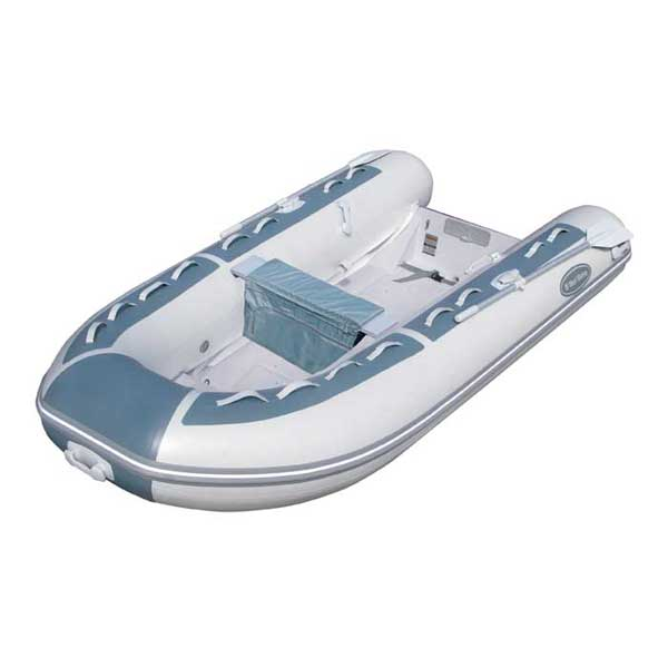 RIB-350 Double Floor PVC Inflatable Boat—Gray