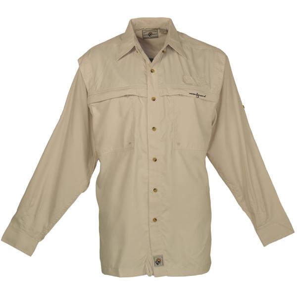 Hook & Tackle Men's Peninsula Long-Sleeve Shirt Tan Sale $59.99 SKU: 13074026 ID# M01015L 050 S UPC# 753899385320 :