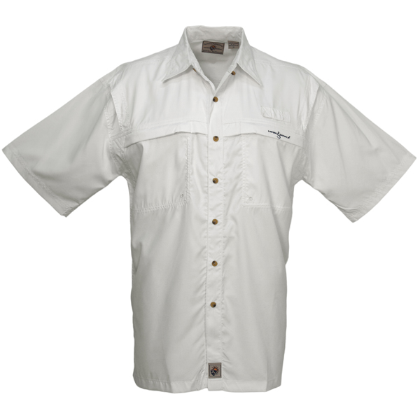 Men's Peninsula Short-Sleeve Shirt, White, S
