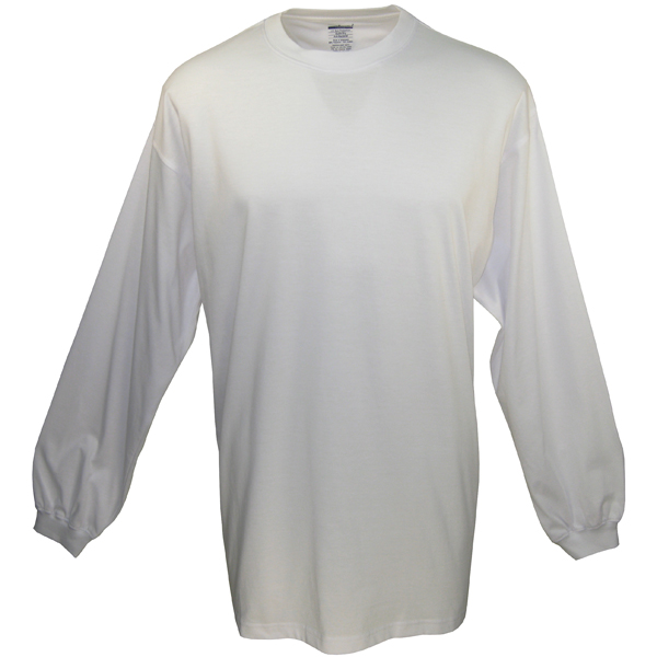 Men's Long-Sleeve Tech Tee, White, M