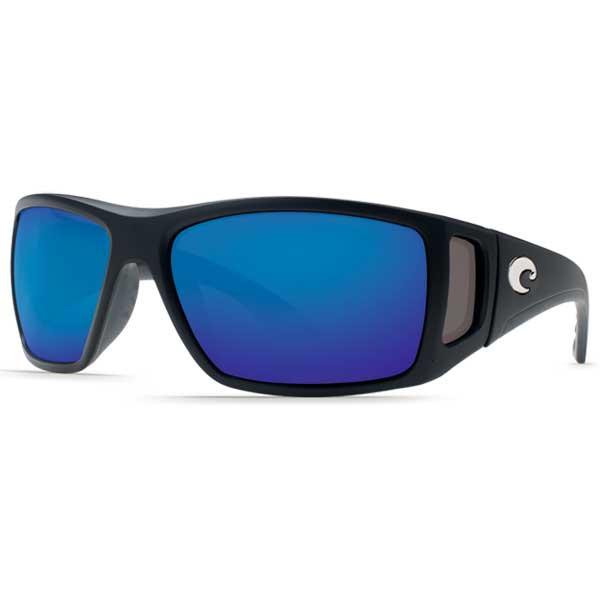Costa Bomba Sunglasses, Black Frames with Black_blue Mirrored Lenses