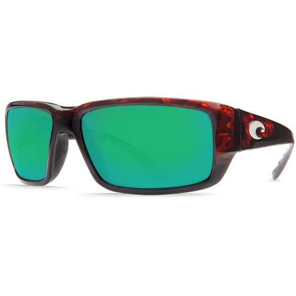 Fantail Sunglasses, Tortoise Frames with Costa 580 Green Mirror Glass Lenses