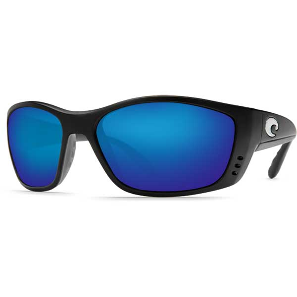 Costa Fisch Sunglasses, Black Frames with 580 Black_blue Mirrored Lenses