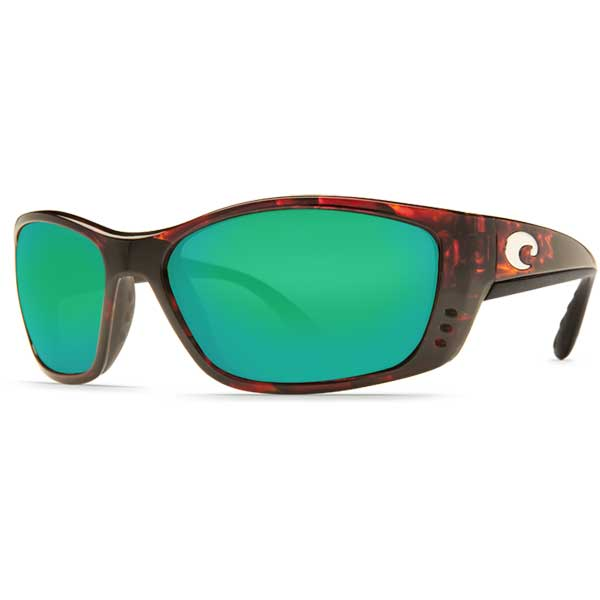 Costa Fisch Sunglasses, Tortoise Frames with 580 Green Mirrored Lenses