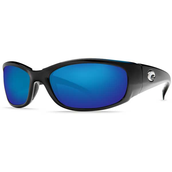 Hammerhead Sunglasses, Black Frames with 580 Blue Mirrored Lenses