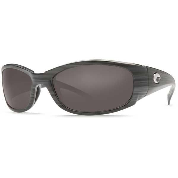 Hammerhead Sunglasses, Silver/Teak Frames with Costa 580 Gray Plastic Lenses Gray