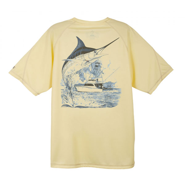 Men's Champion Marlin Boat Tee, Yellow, M