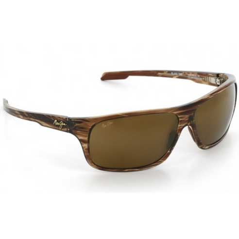 Island Time Sunglasses, Striped Rootbeer Frames with HCL Bronze Lenses