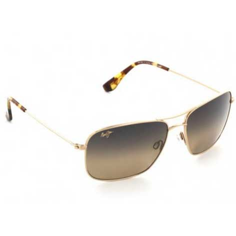 Maui Jim Wiki Wiki Sunglasses, Gold Frames with HCL Bronze Lenses