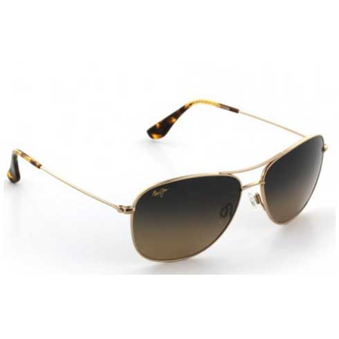 Maui Jim Cliff House Sunglasses, Gold Frames with HCL Bronze Lenses